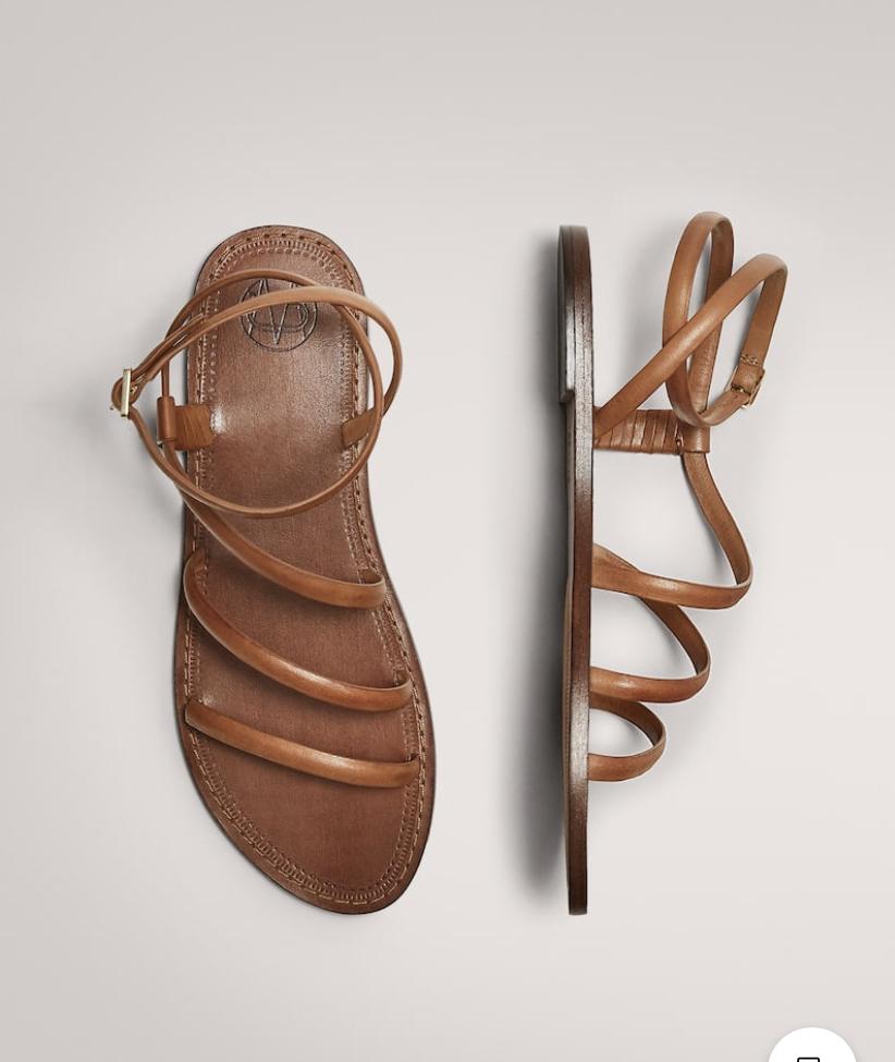 Sandalias de Massimo Dutti.