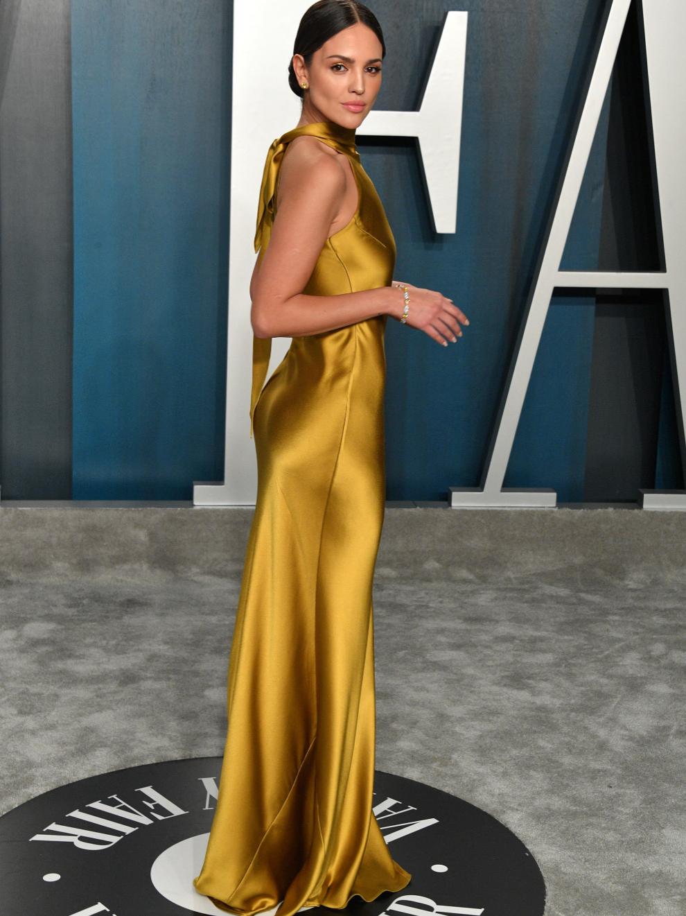 Eiza González, en la fiesta de los Oscar en febrero de 2020.