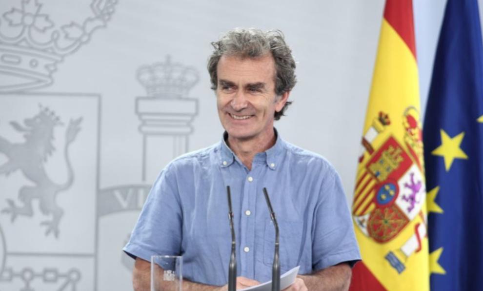 Fernando Simón, en una de sus conocidas ruedas de prensa durante la...