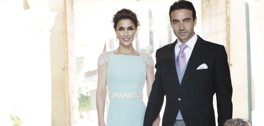 Paloma Cuevas y Enrique Ponce en la boda de Verónica, hermana de Paloma en 2014.