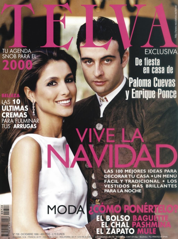 El matrimonio fue portada de TELVA en diciembre de 1999.
