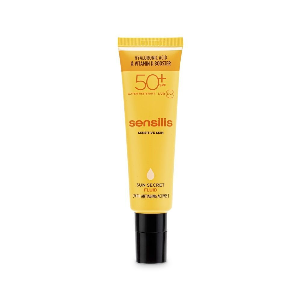 Para rostro: SPF 50+ Con escudo antiedad para pieles sensibles.