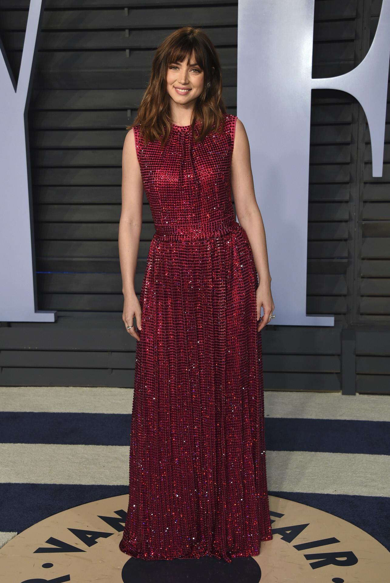 Ana de Armas en los Premios Oscar de 2018.