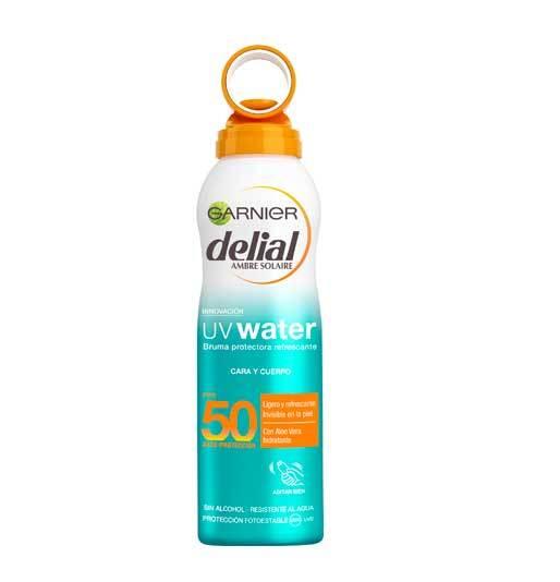 Bruma protectora refrescante SPF 50, Delial. 14 euros.