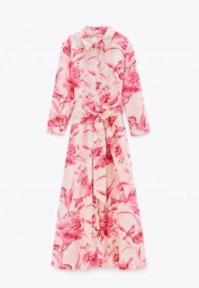 Vestido camisero de Zara (39,95 euros).