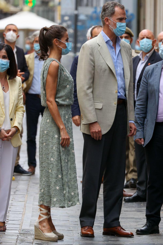 La Reina durante su visita a Canarias.