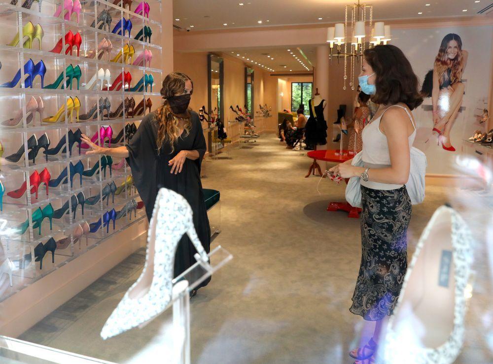 Sarah Jessica Parker en su tienda.