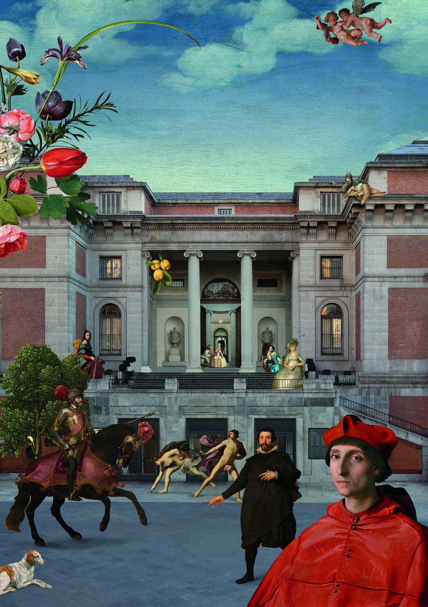 """Cartel de la exposición """"Reencuentro"""", que se puede visitar en el Museo del Prado hasta el 17 de septiembre."""
