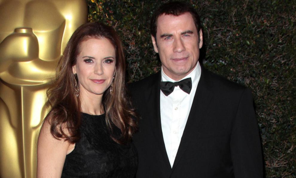 Kelly Preston y John Travolta durante la gala de los Premios Oscar de...