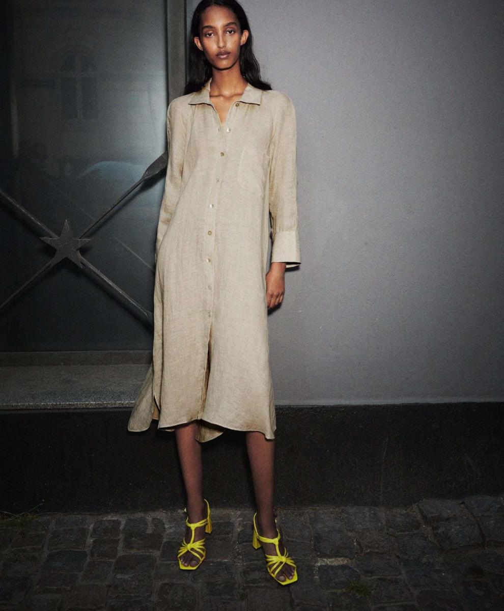 Vestido de lino de Zara
