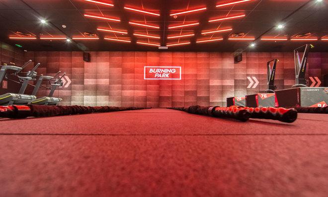 Sala VIP de Fitness Park, el gimnasio de 2.000 metros cuadrados...