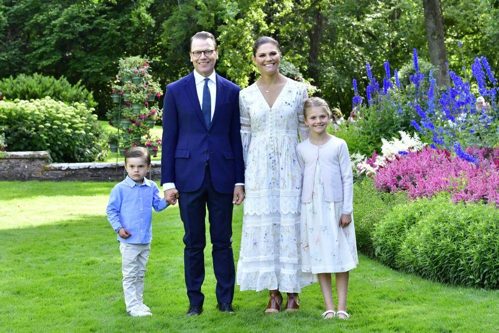 Posado de la Familia Real de Suecia.