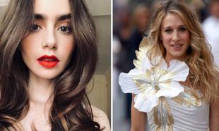 Lily Collins se convierte en la nueva Carrie Bradshaw (Sarah Jessica...