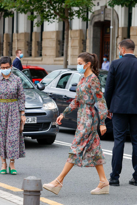 La reina Letizia en su visita a Bilbao.