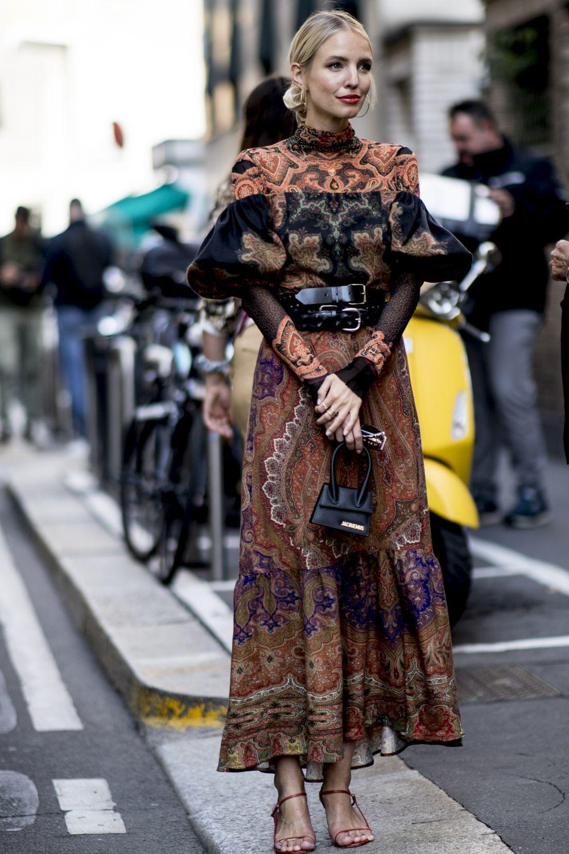 Lennnie Hanne en la Semana de la Moda de Milán.