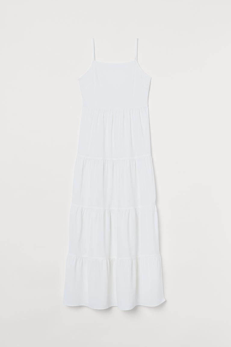 Vestido blanco de tirantes de Hm.