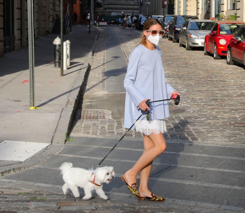 Olivia Palermo paseando por Nueva York.