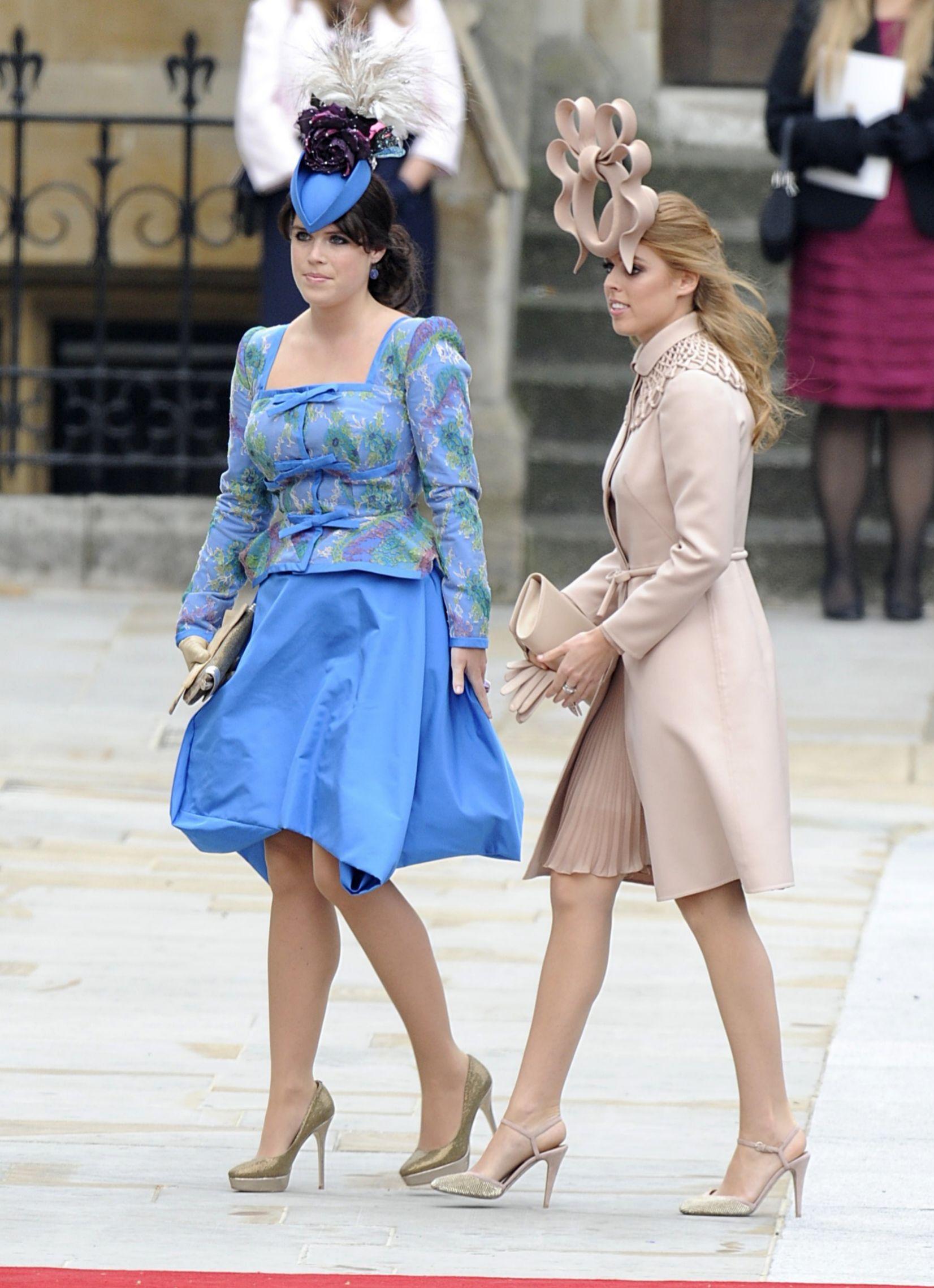 Eugenia y Beatriz de York en la boda de Guillermo y Kate en 2011.