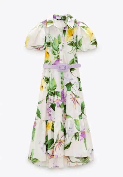 Vestido de Zara (39,95 euros).