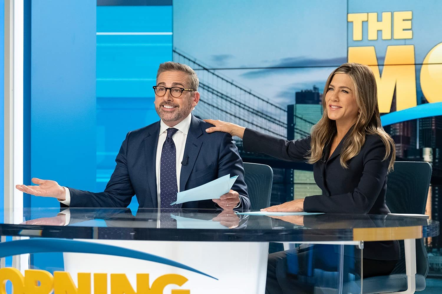Jennifer Aniston y Steve Carell en The Morning Show