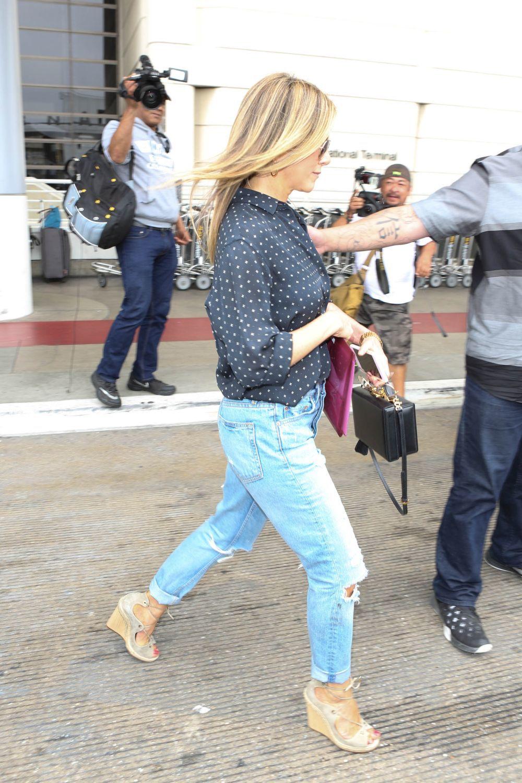 Jennifer Aniston en jeans