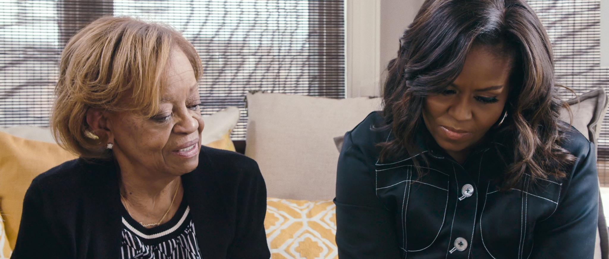 Michelle Obama con su madre