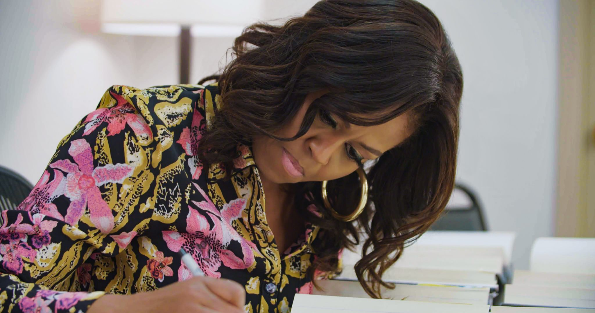 Michelle Obama en una imagen de su documental Becoming