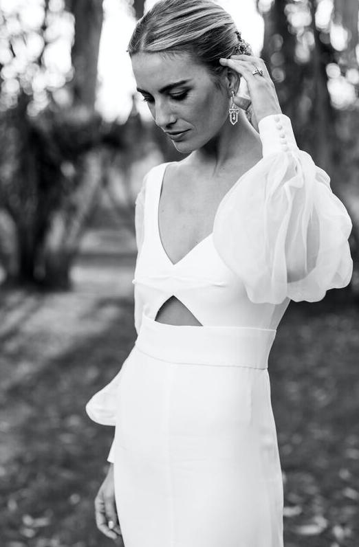 El vestido de novia de la directora creativa de Vogana estaba...