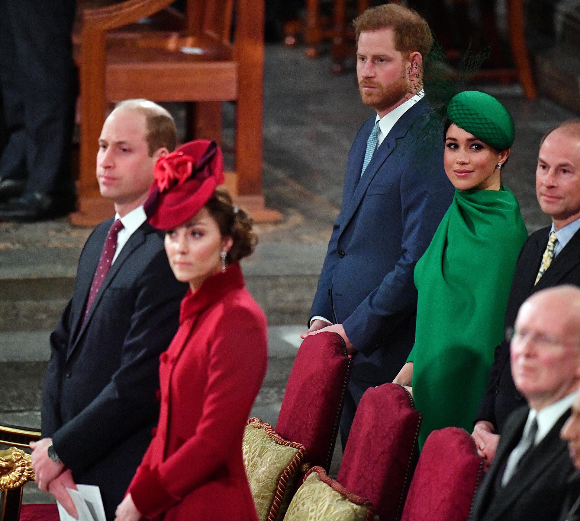La última aparición de los duques de Sussex junto a la familia real.