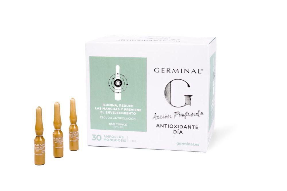 Germinal Acción Profunda antioxidante de día, caja de 30 ampollas...