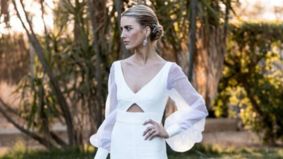 El vestido de Carmen de la Puerta lo diseñó Antonio García.