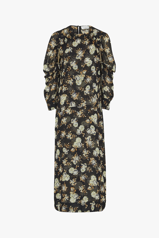 Vestido midi de Victoria Beckham, colección pre otoño-invierno 2020/2021.