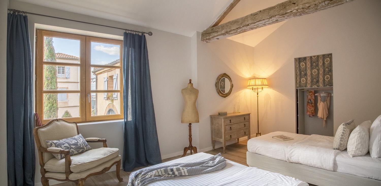 Una de las habitaciones del Chateau Dumas.