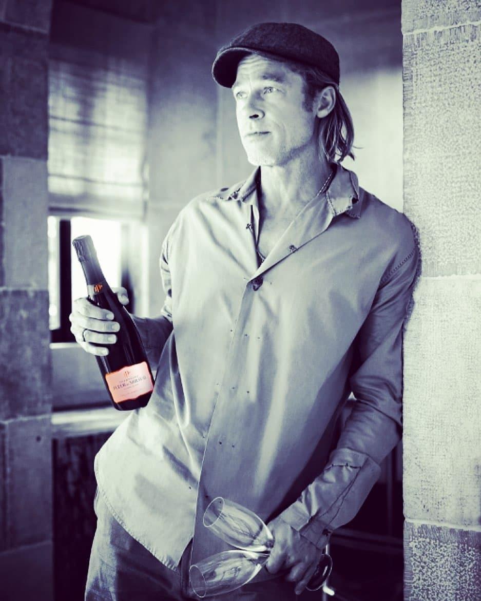 Brad Pitt y su champagne Fleur de Miraval.