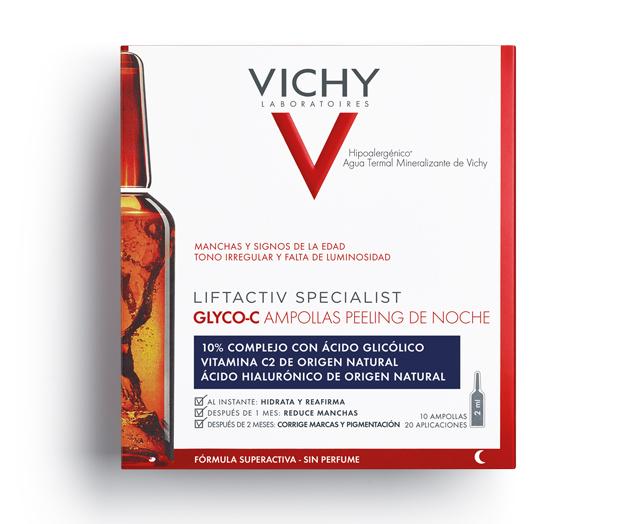 Liftactiv Specialist Glyco C es una fórmula en formato ampolla...