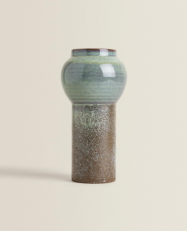 Como este jarrón, atractivo por su combinación de texturas, colores...