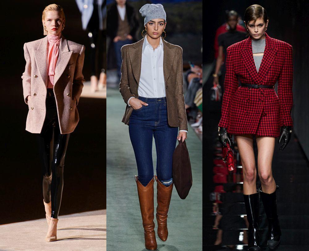 Desfiles otoño-invierno de Saint Laurent,Brandon Maxwell y Versace.