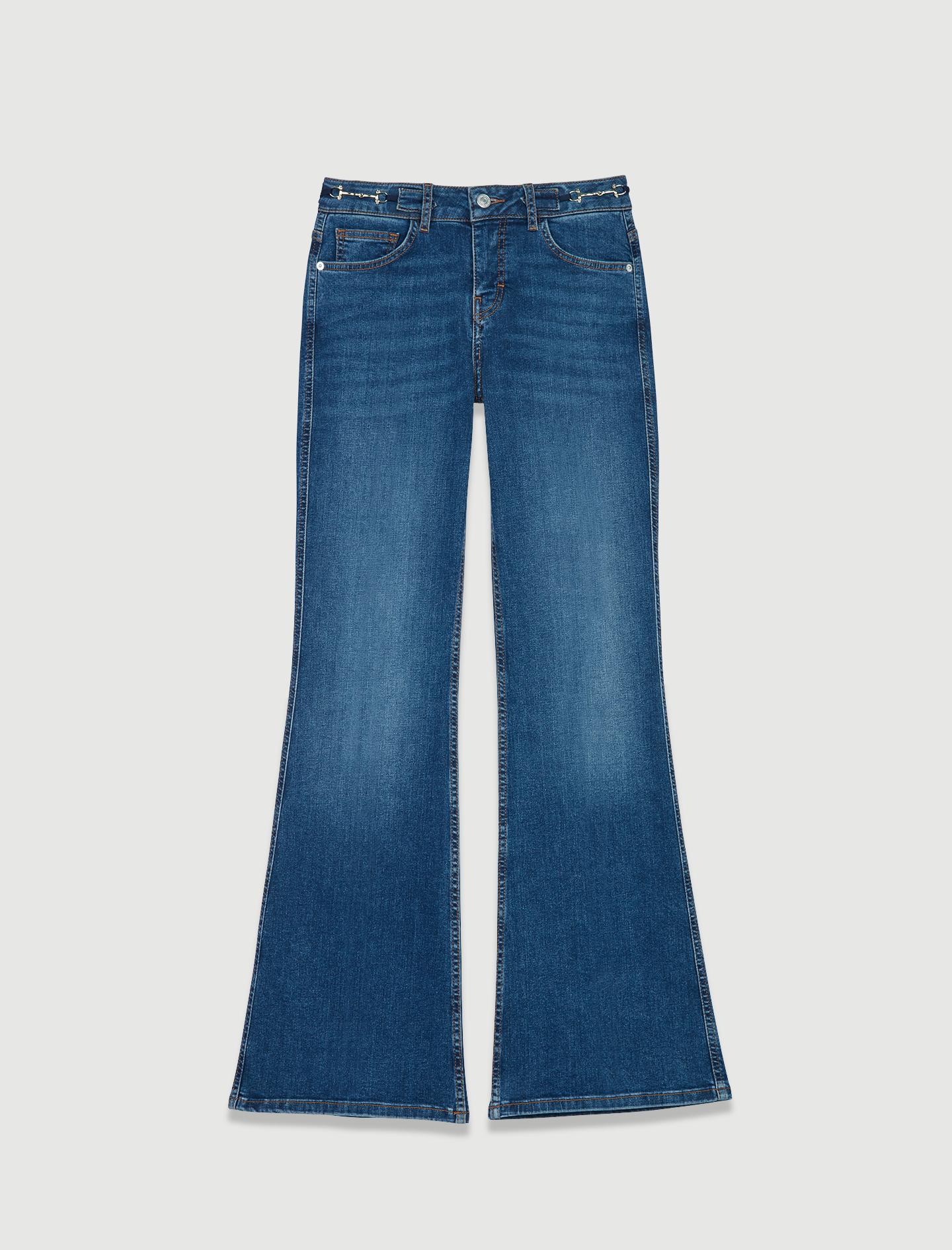Jeans con anillas. Maje (195 euros).