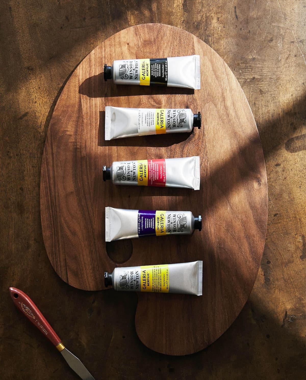 Tubos de pintura acrílica de la marca Winsor and Newton. 5,99 euros...