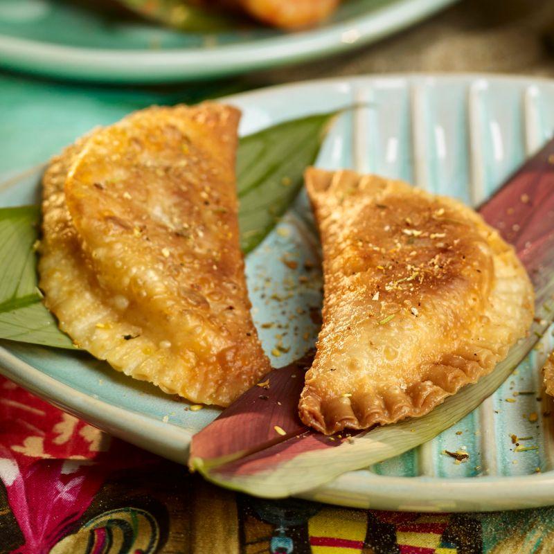 Empanadillas de pescado al vapor.