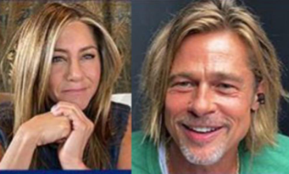 Jennifer Aniston y Brad Pitt durante la lectura del guión de...