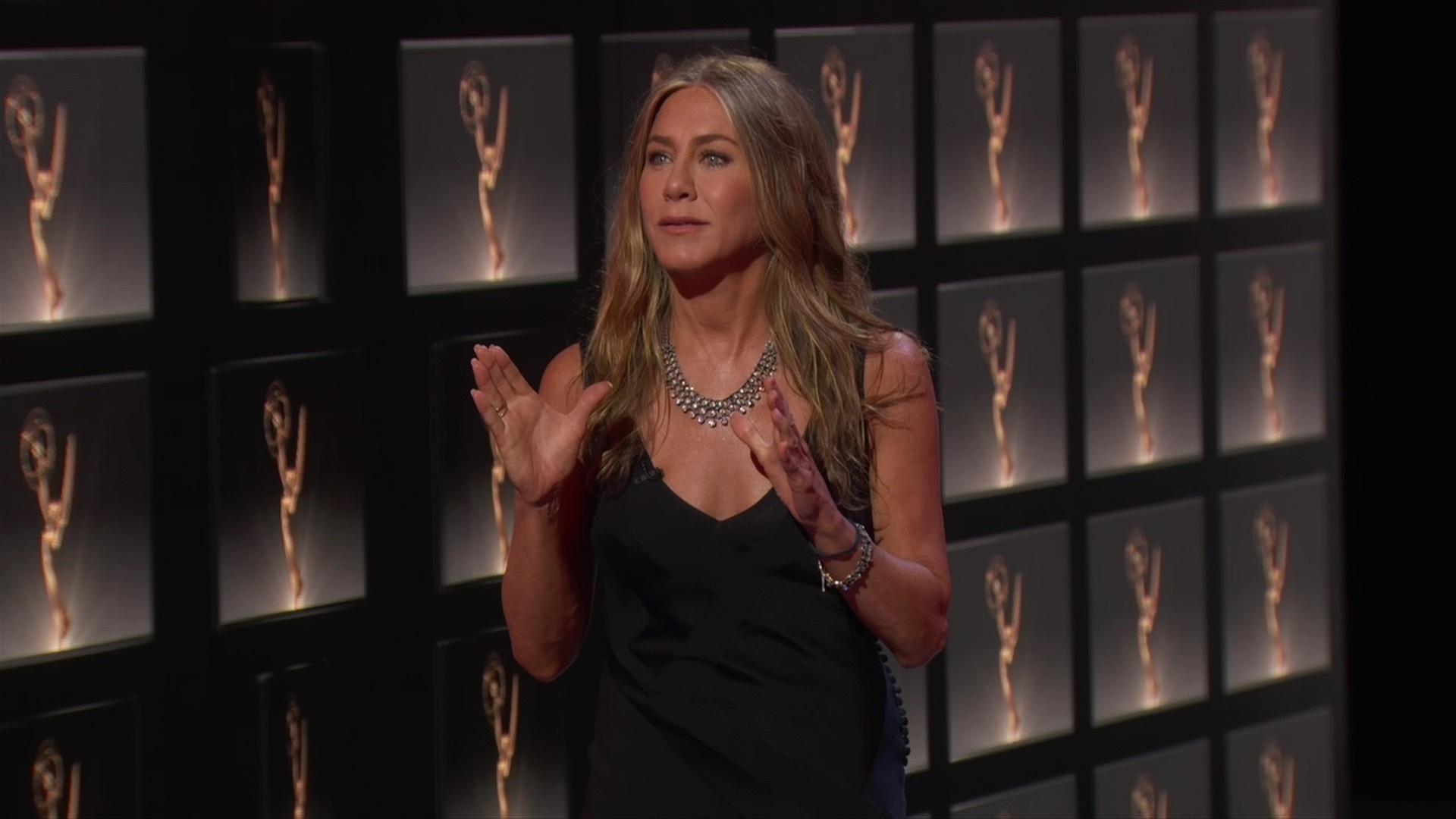 Jennifer Aniston durante la gala de los premios Emmy 2020