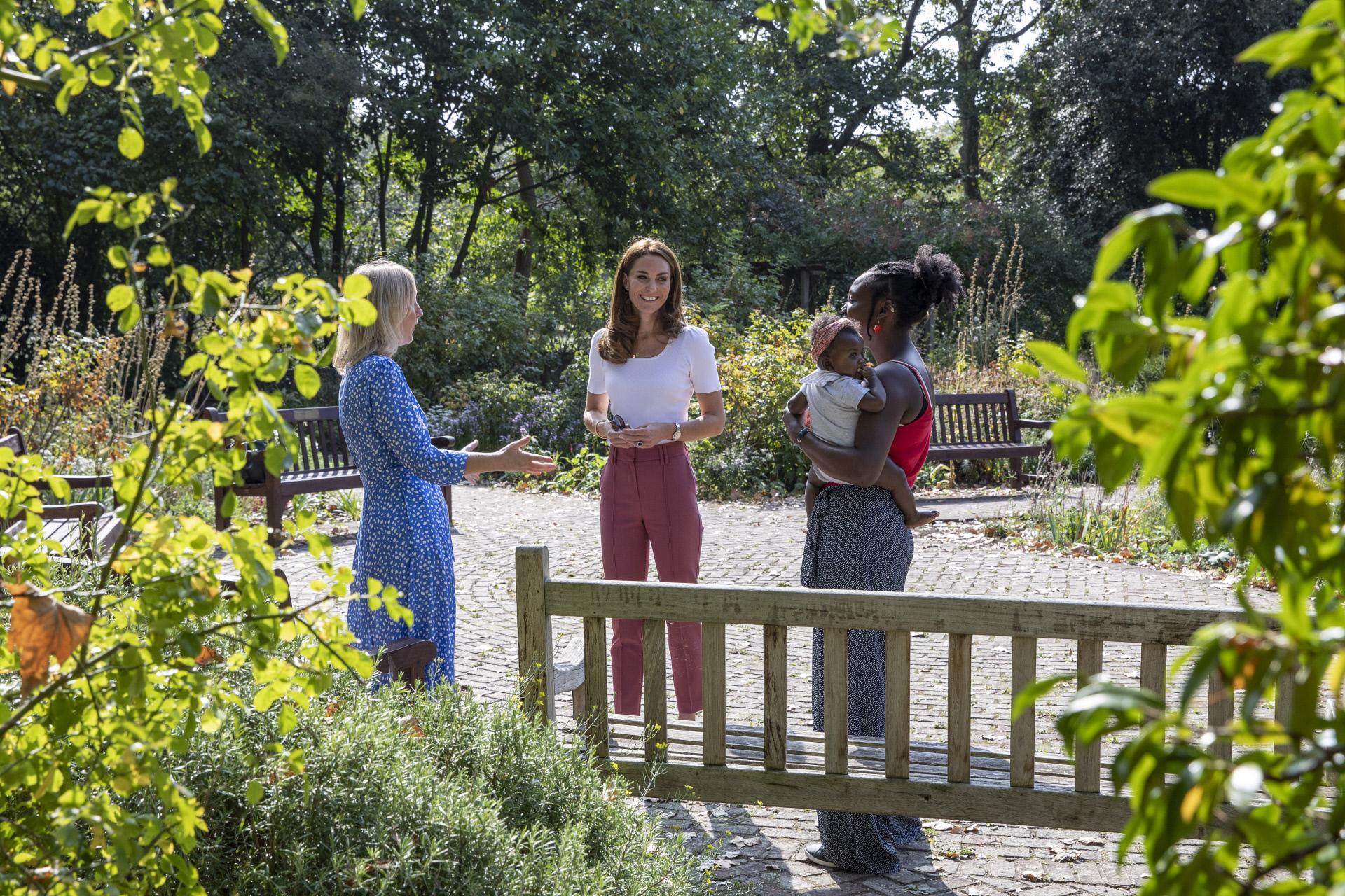 Kate Middleton en el parque de Battersea de Londres.