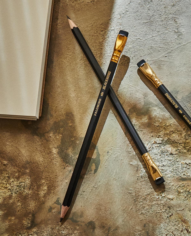 Pack de tres lápices de madera y latón con goma recambiable. 9,99...