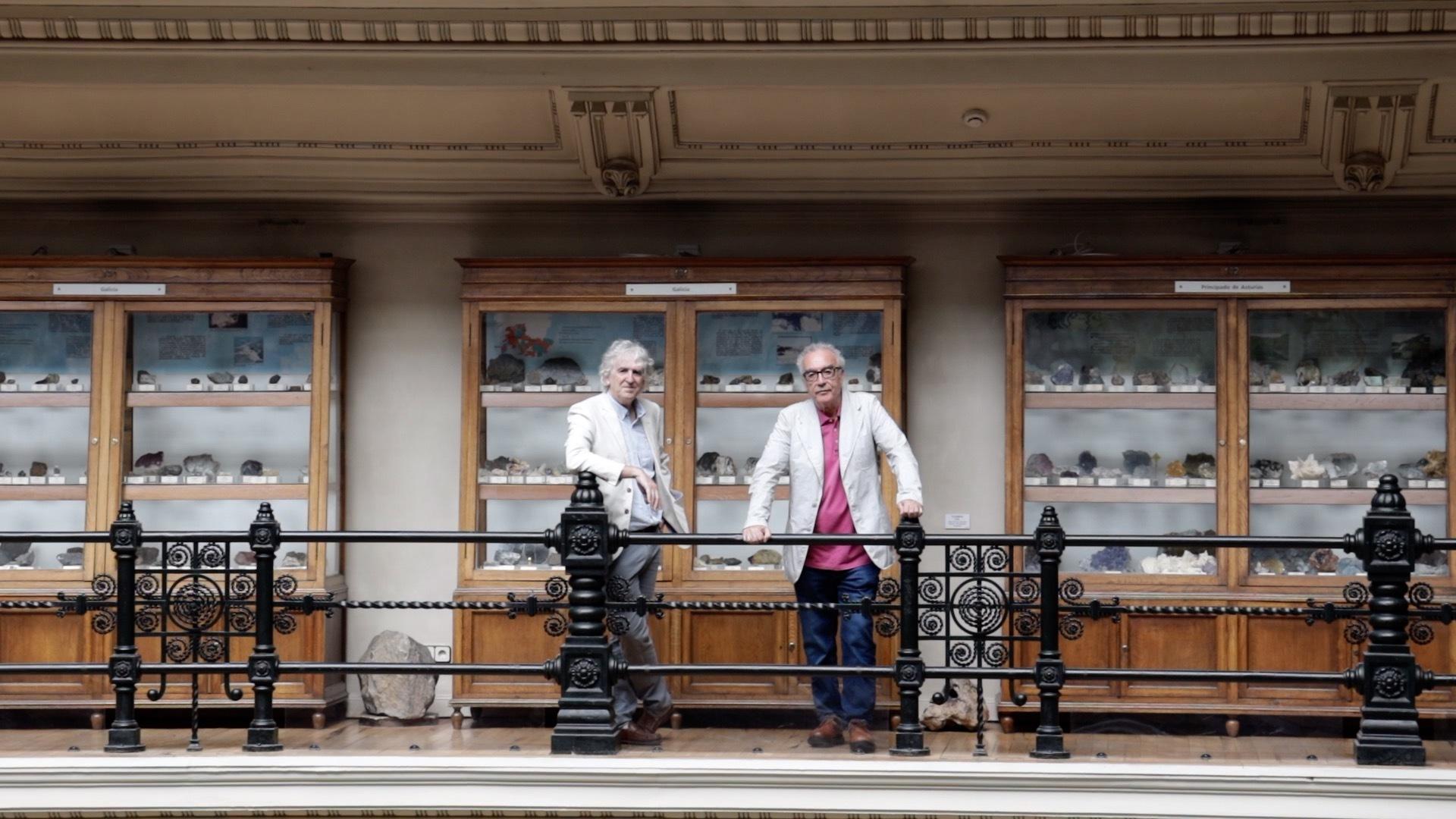 Arsuaga y Millás en el Museo Geominero de Madrid