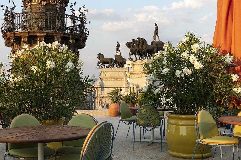 Terraza del restaurante Dani