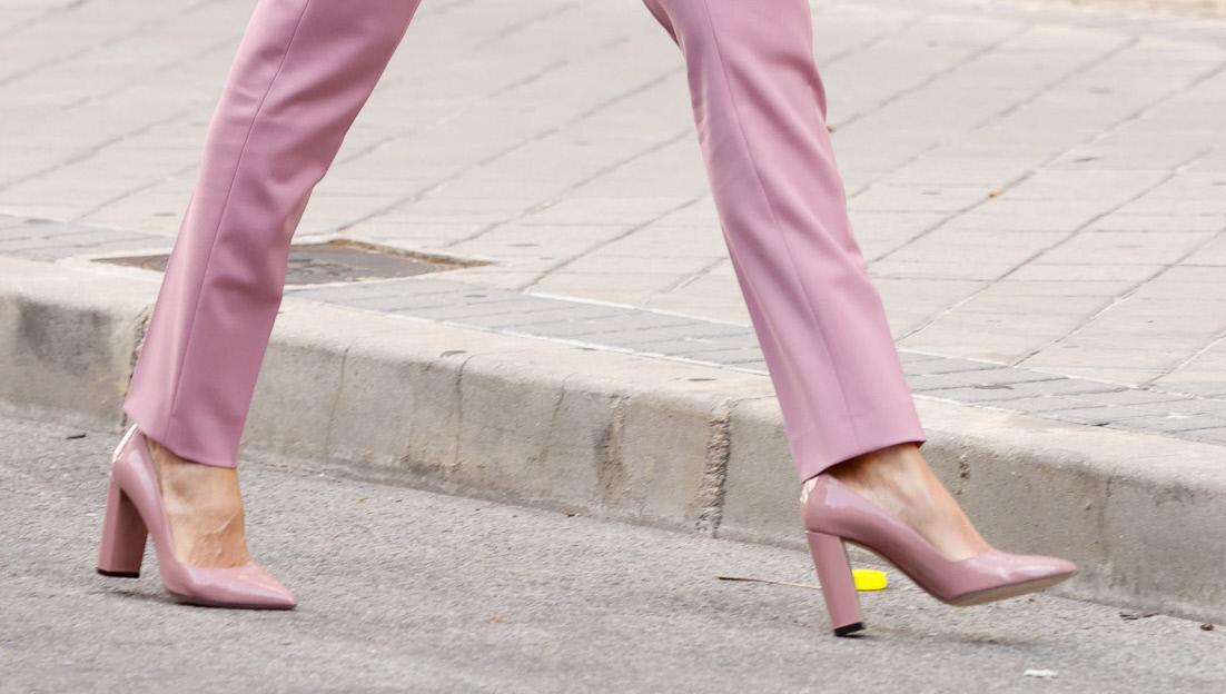 Los zapatos de la reina Letizia, de Hugo Boss.