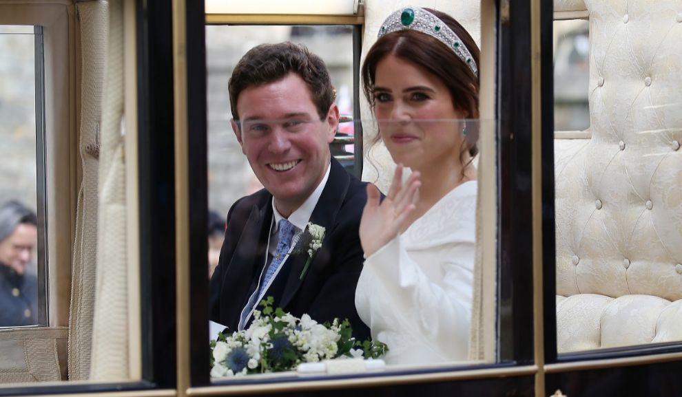 Eugenia y Jack el día de su boda.