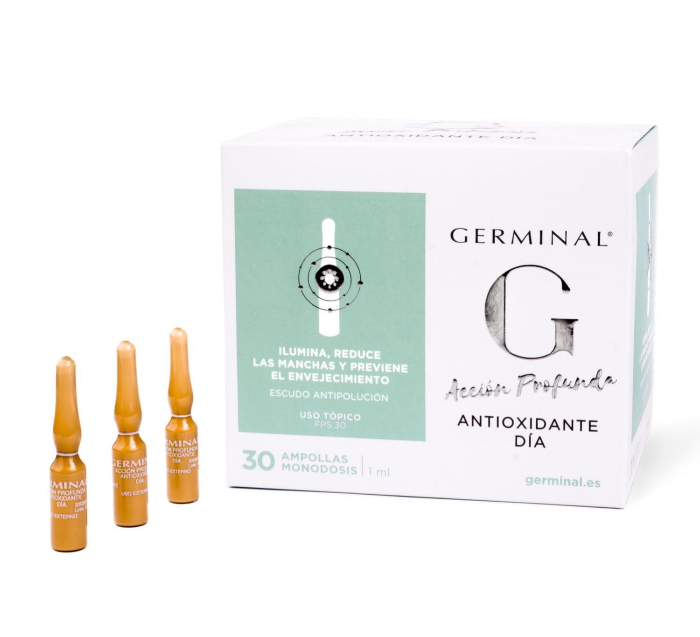 Las nuevas ampollas Antioxidantes de Germinal (30 ampollas, 44, 49 euros)