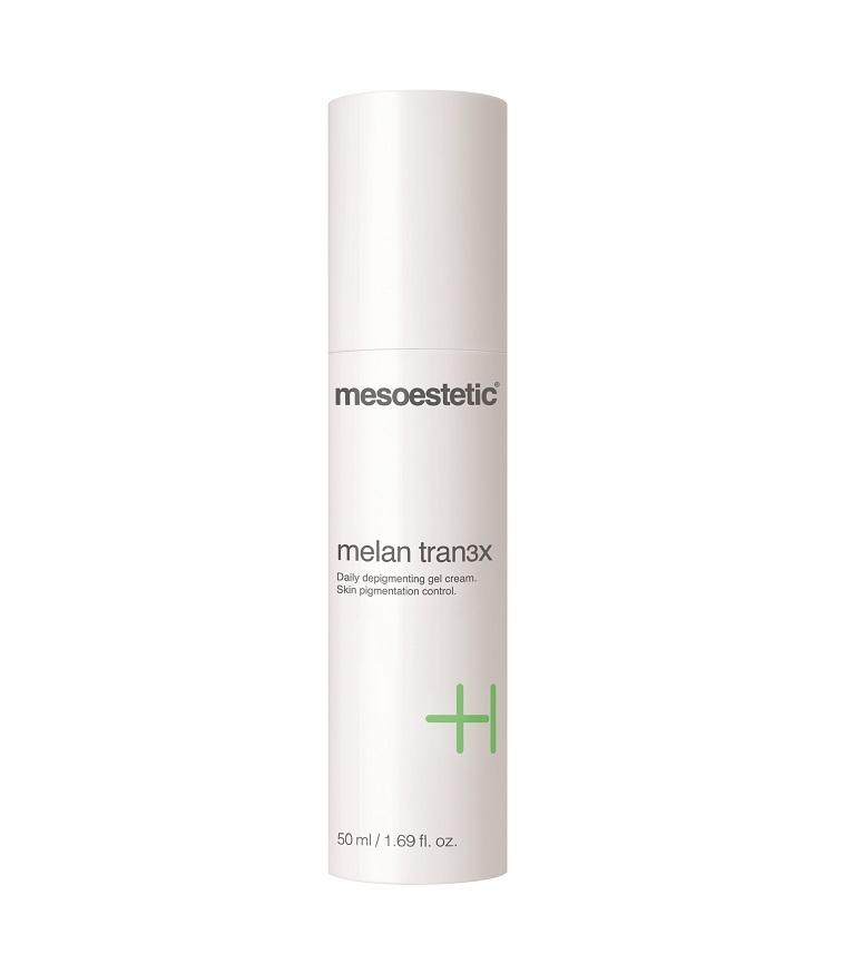 melan tran3x gel cream es una crema despigmentante de uso diario que...
